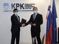 A memorandum of understanding has been signed between the anti-corruption bodies of Uzbekistan and Slovenia