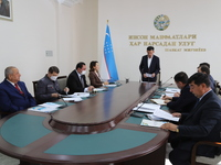 """From the meeting of the Samarkand territorial anti-corruption council: """"The heads  should start anti-corruption in their organization"""""""